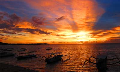 Beautiful sunsets in Lembongan Island