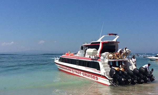 travel lembongan with rocky speed boat